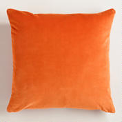 Orange Cotton Velvet Throw Pillow