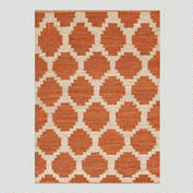 Orange Jiya Flat - Woven Hemp Rug