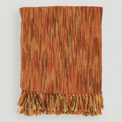 OrangeRustBrownCamel Taryn Throw