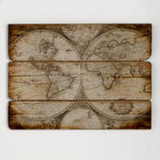Wood Wall Map
